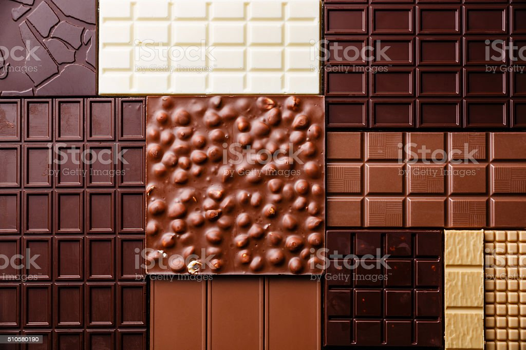 Chocolate pattern background stock photo