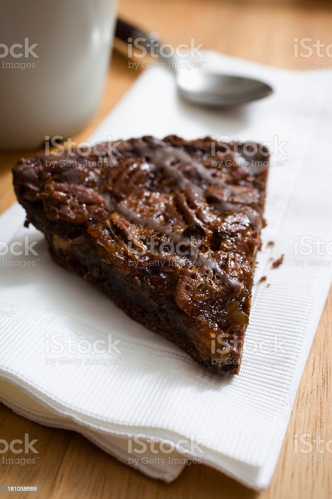 Chocolate pecan pie. royalty-free stock photo