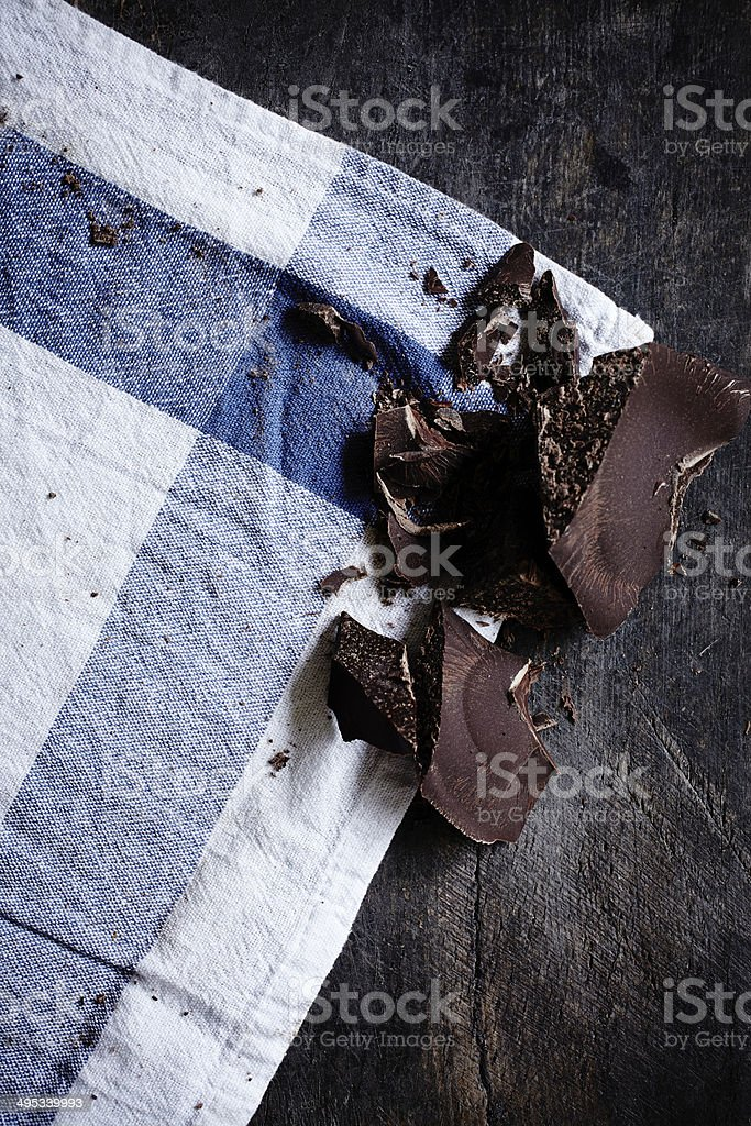 Chocolate pieces royalty-free stock photo