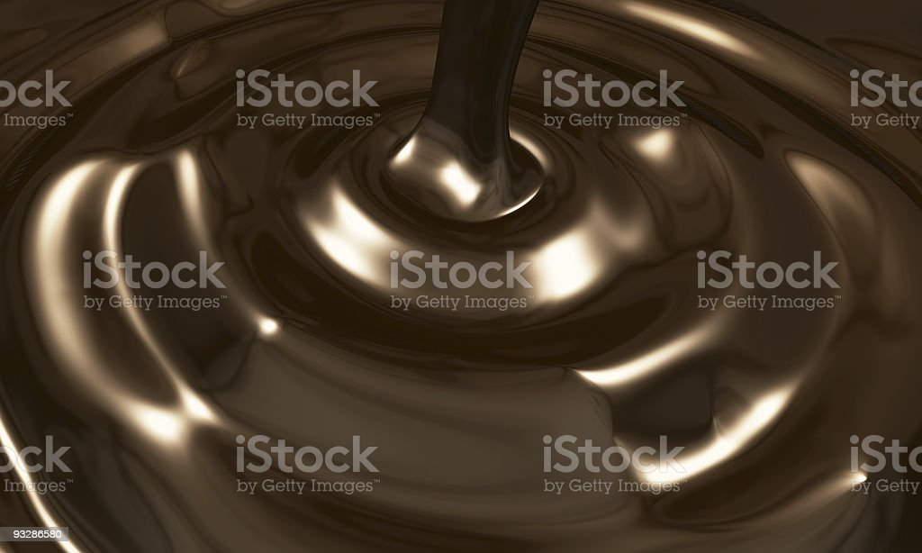 Chocolate Pouring royalty-free stock photo