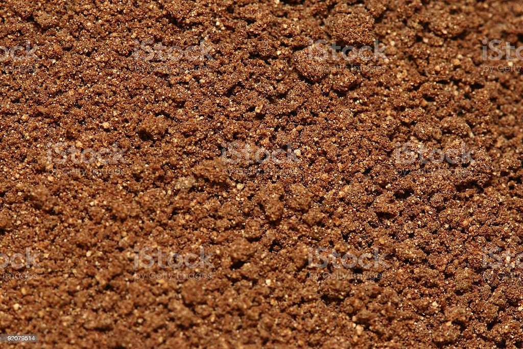 Chocolate Powder (Macro) royalty-free stock photo