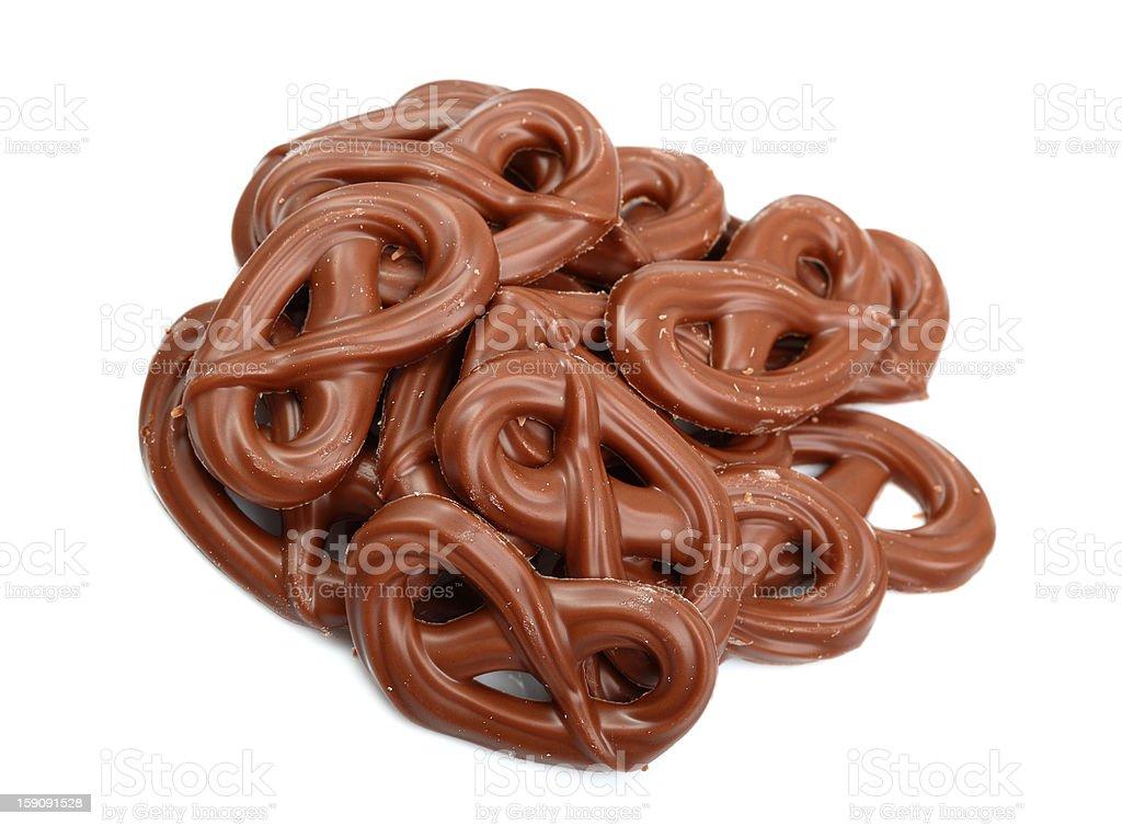 Chocolate Pretzels royalty-free stock photo