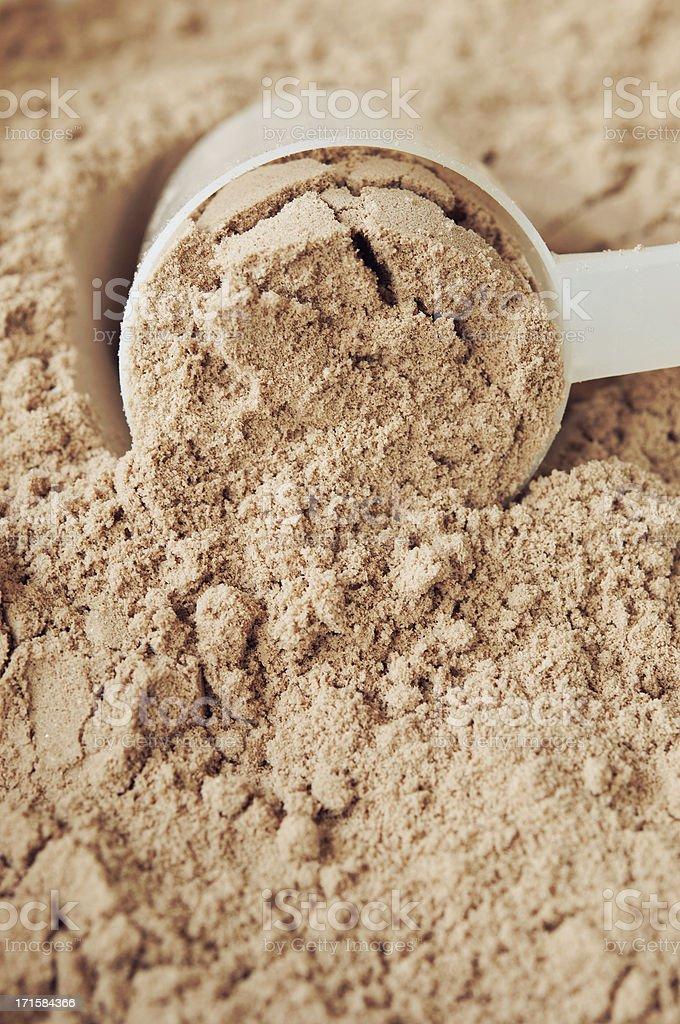 Chocolate Protein Powder stock photo