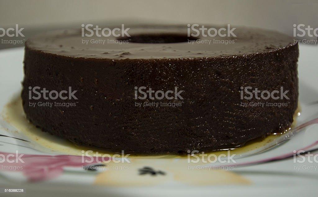 Chocolate pudding II stock photo
