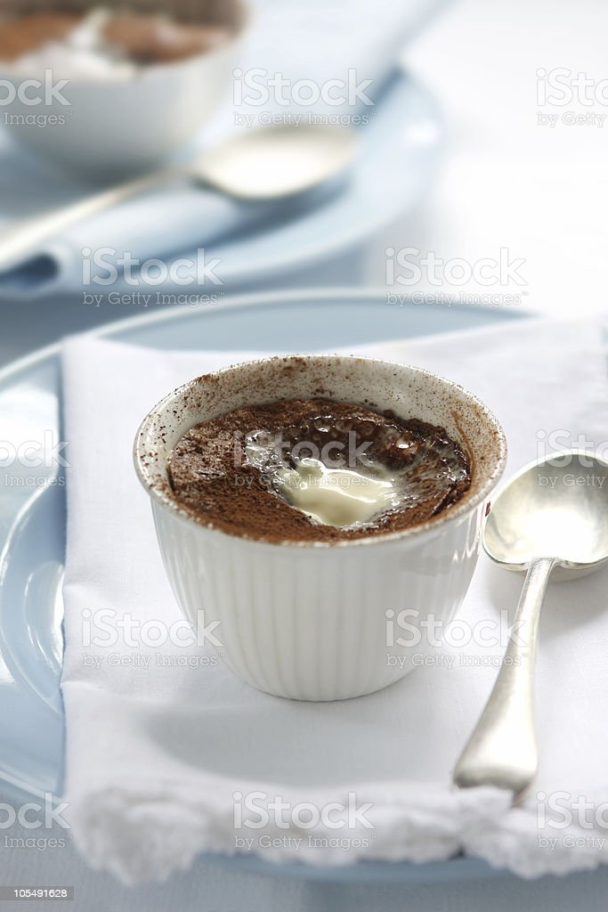 Chocolate Pudding royalty-free stock photo