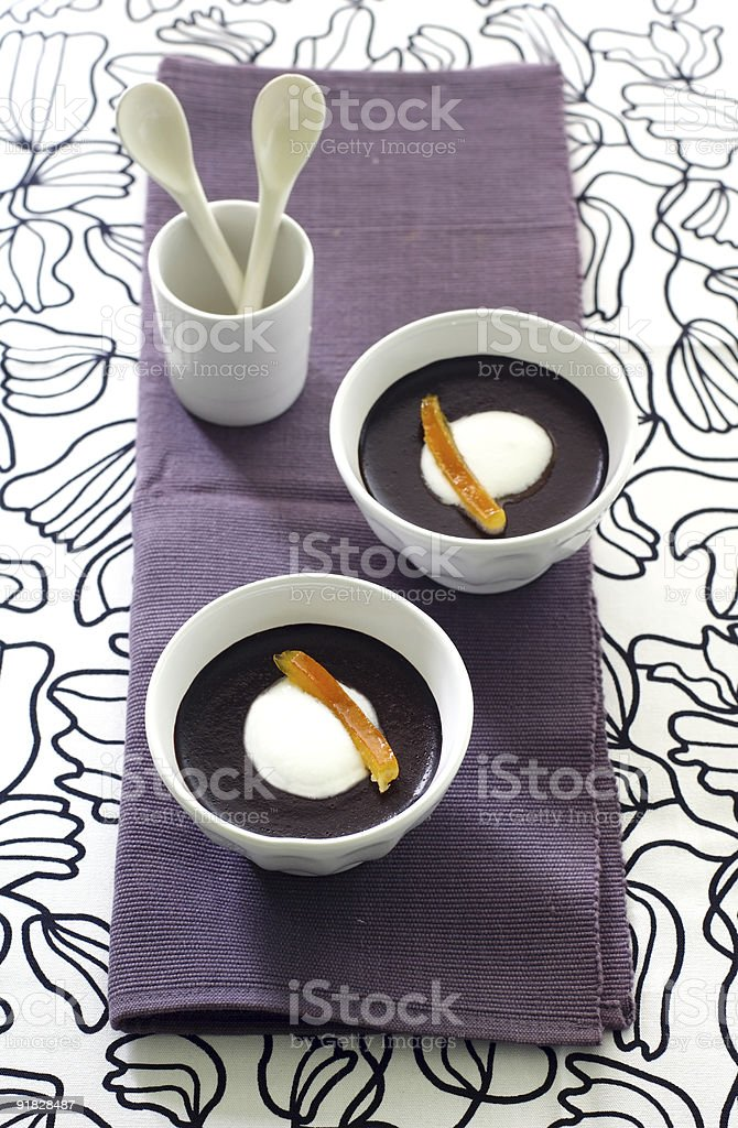 chocolate pudding royalty-free stock photo