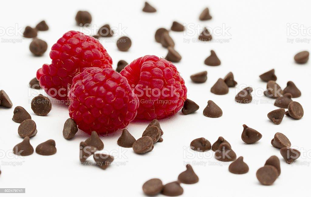 Chocolate Raspberries stock photo
