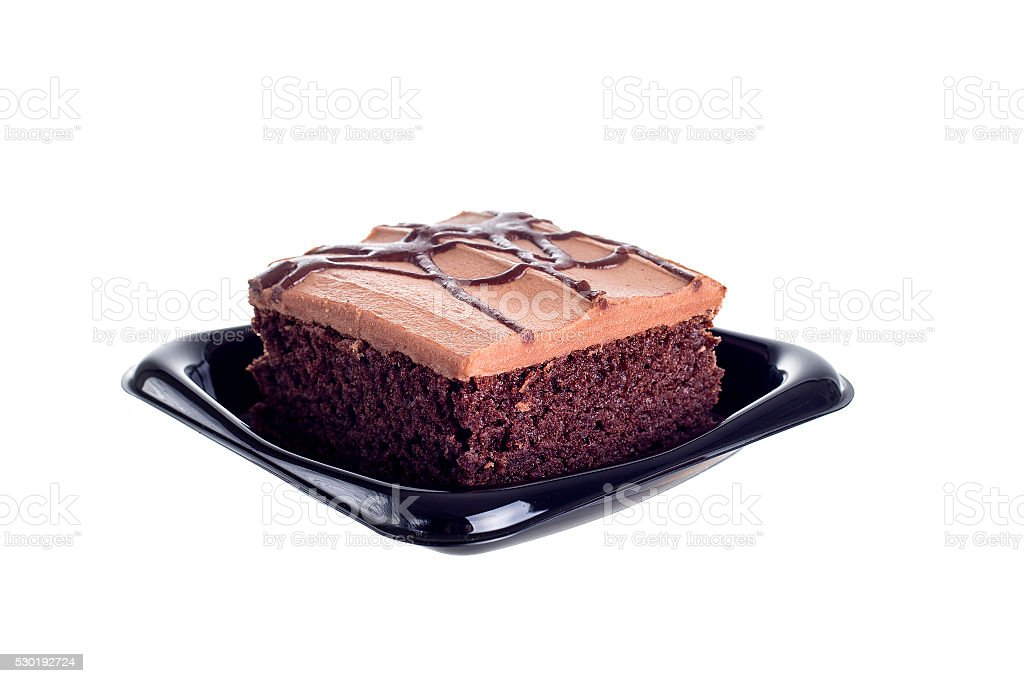 Chocolate Red Velvet Cake stock photo