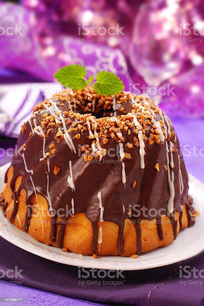 chocolate ring cake royalty-free stock photo