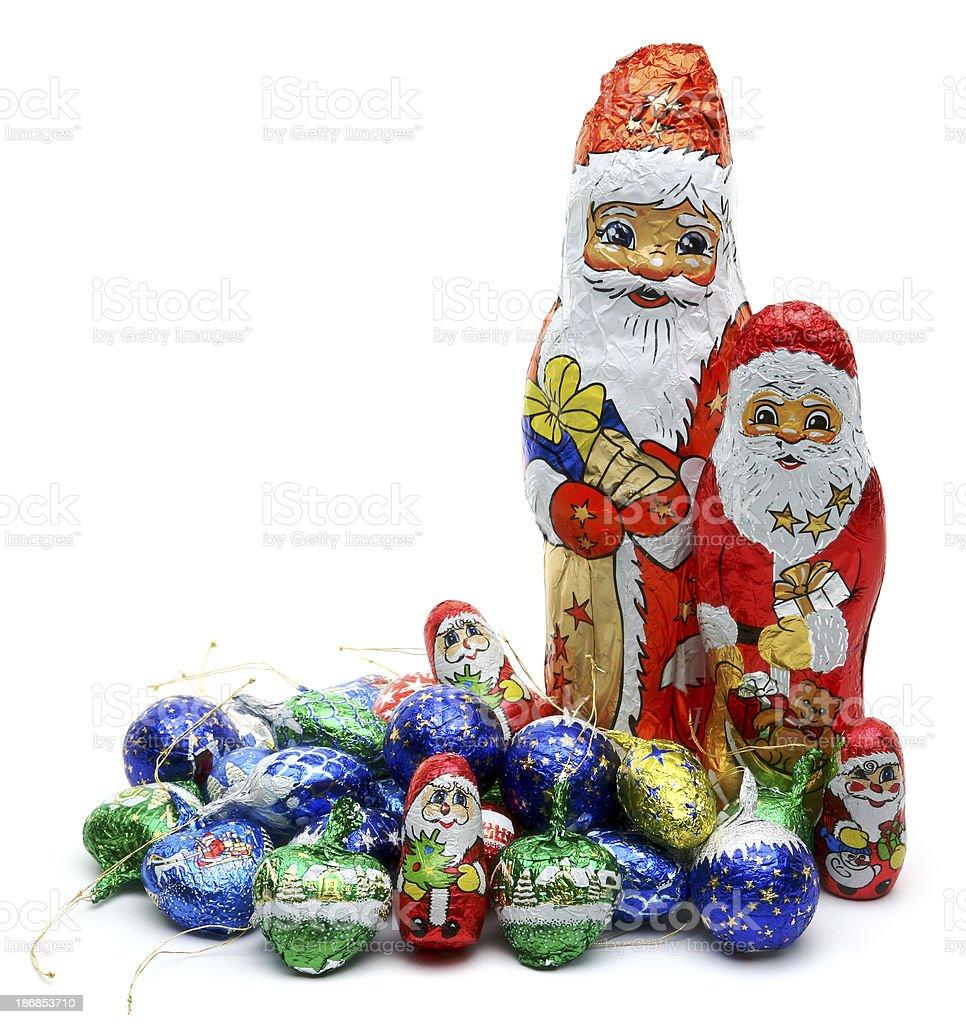 Chocolate Santa royalty-free stock photo