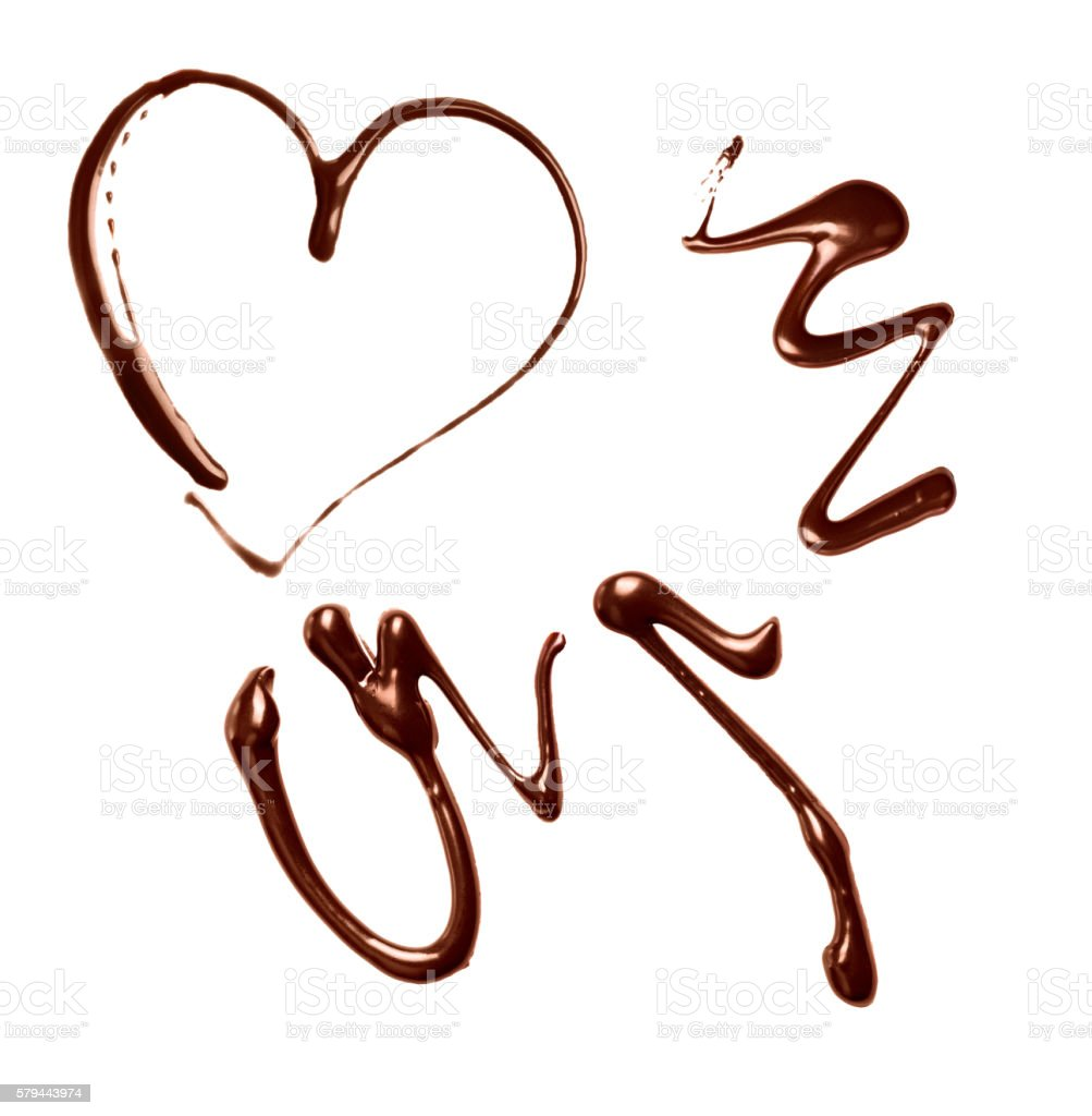chocolate sauce isolated on a white background stock photo