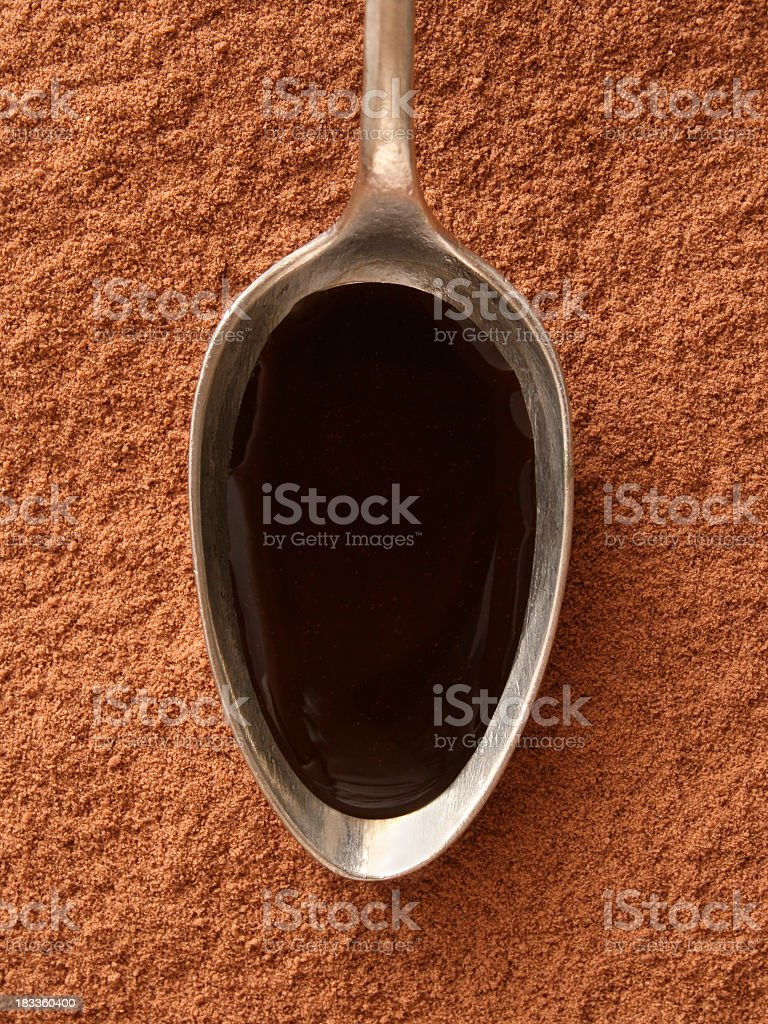 Chocolate sauce royalty-free stock photo
