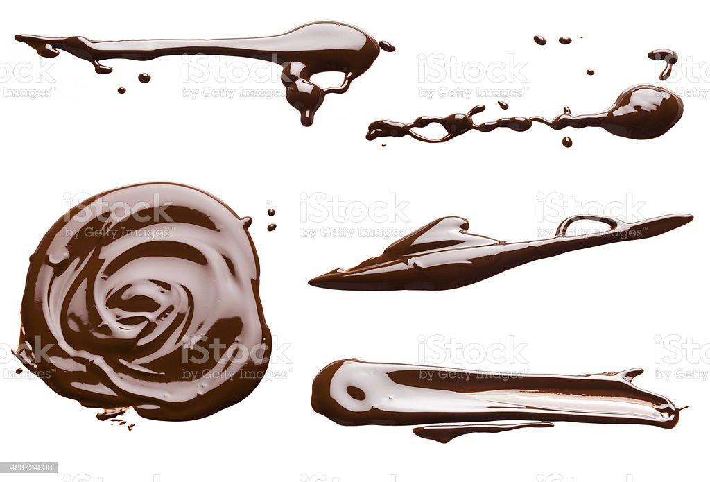 chocolate set stock photo
