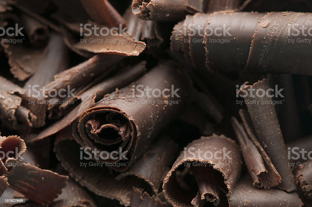 Chocolate Shavings Background stock photo