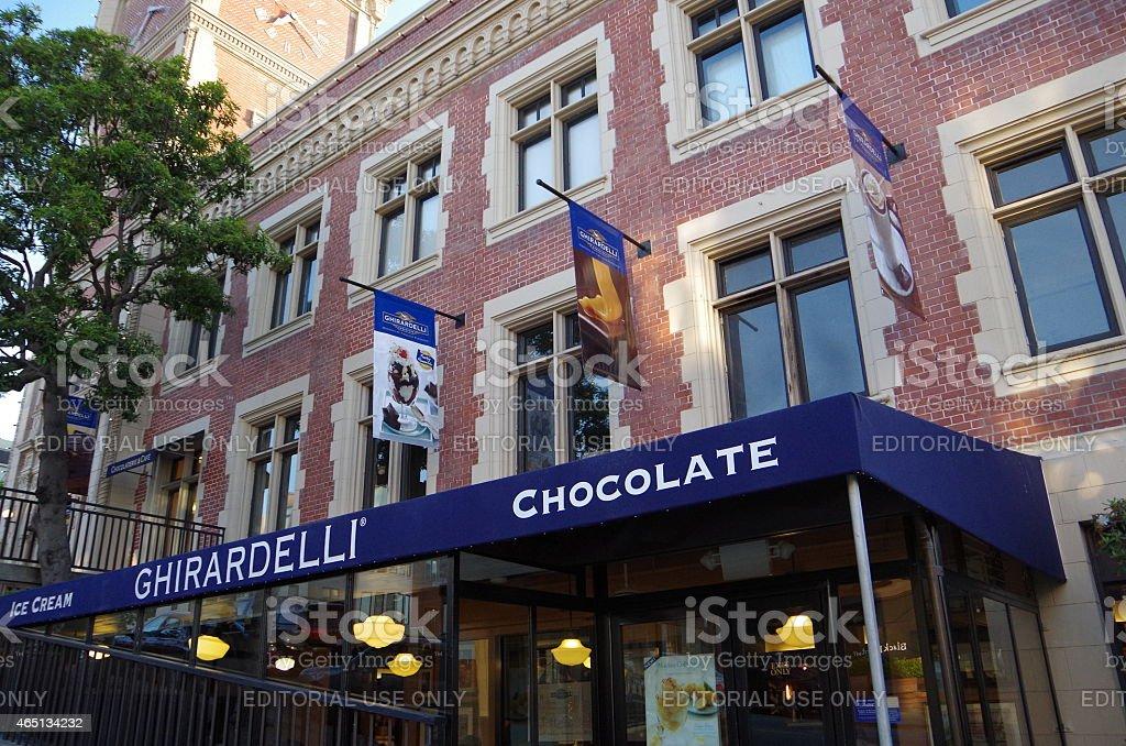 Chocolate de compras en San Francisco foto de stock libre de derechos