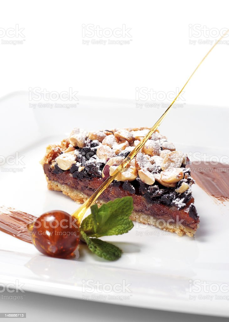 Chocolate Shortcake with Dried Fruit and Nuts royalty-free stock photo