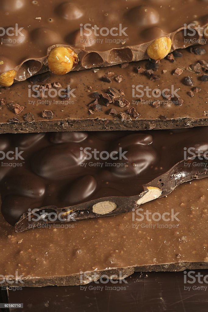 Chocolate slab stock photo
