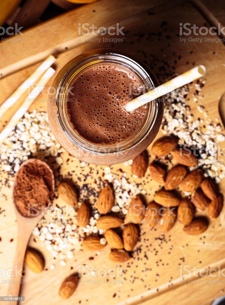 Chocolate smoothie stock photo