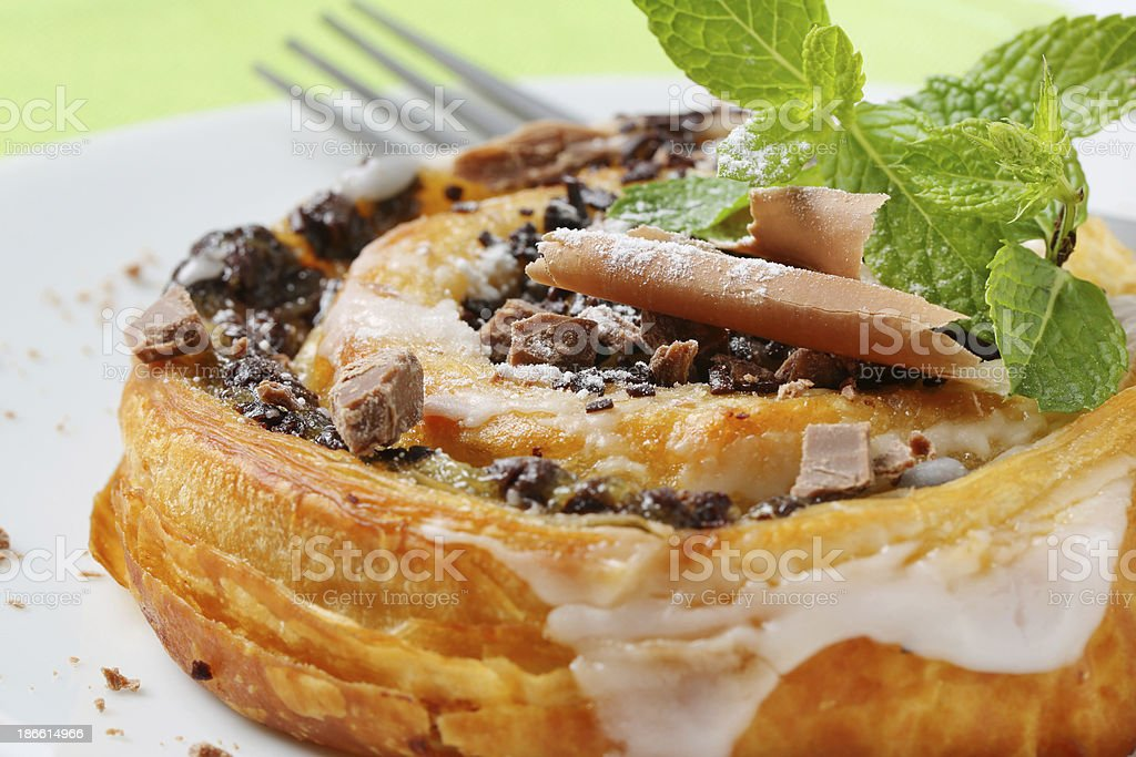 chocolate snail pastry royalty-free stock photo