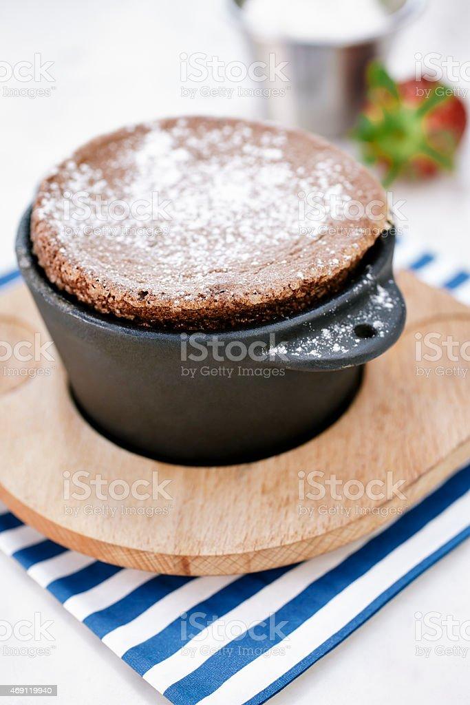 Chocolate souffle stock photo