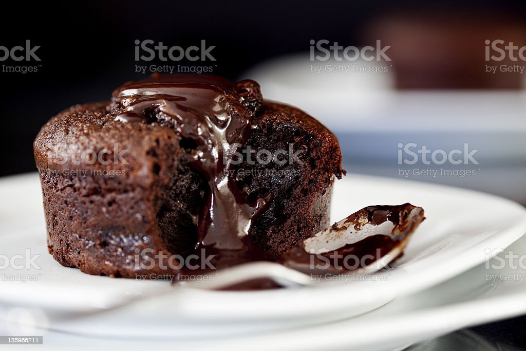 Chocolate Souffles stock photo