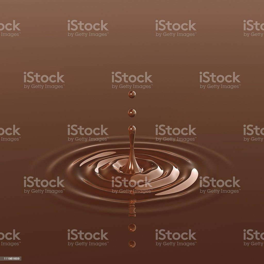 Chocolate splash (Vertical) stock photo