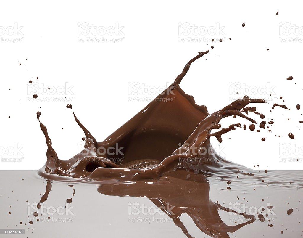 chocolate splash stock photo