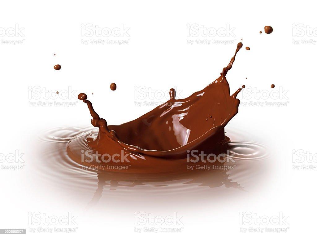 chocolate splashing stock photo