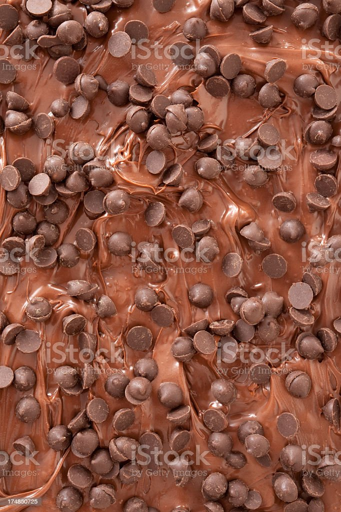 Chocolate spread and chips royalty-free stock photo