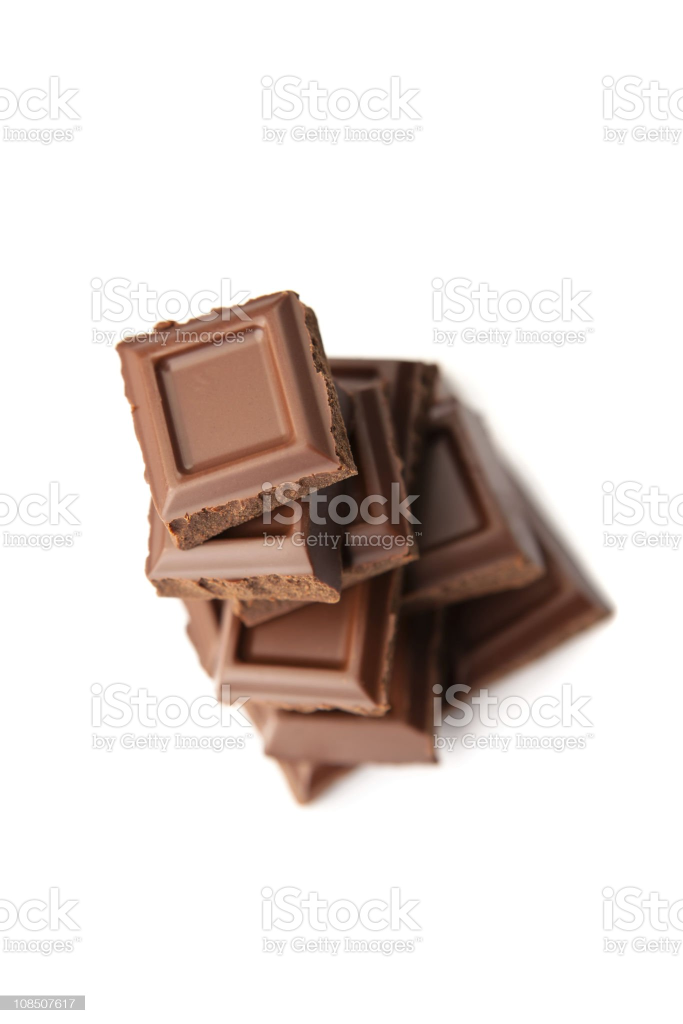 Chocolate stack royalty-free stock photo