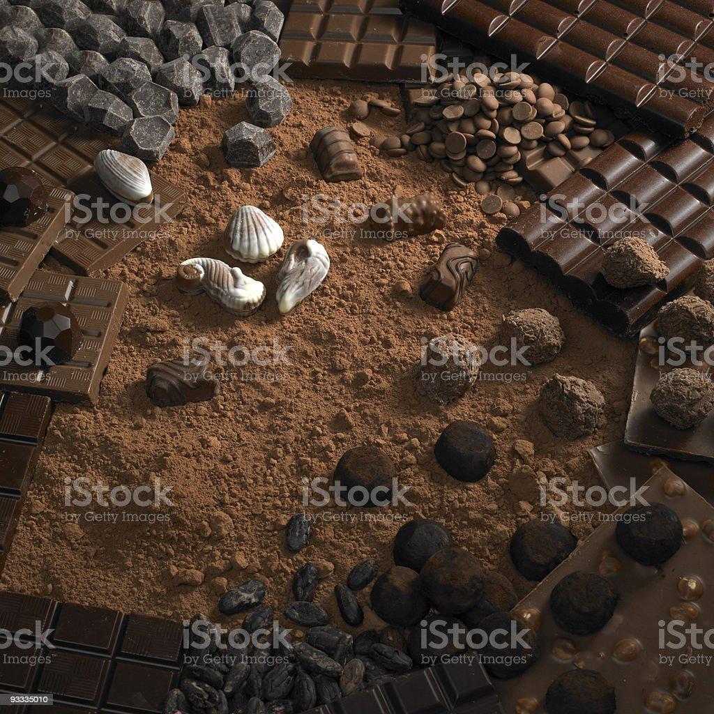 chocolate still life stock photo
