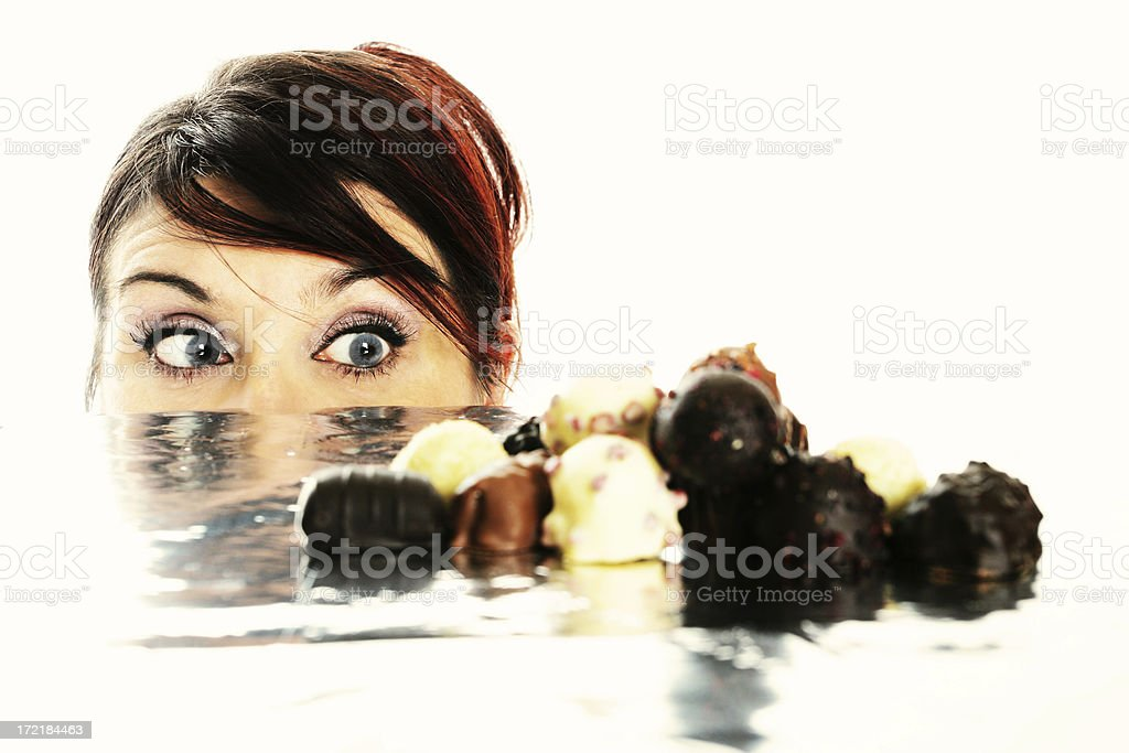 Chocolate story I : Ooooh! royalty-free stock photo