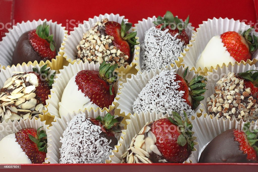 Chocolate Strawberries stock photo