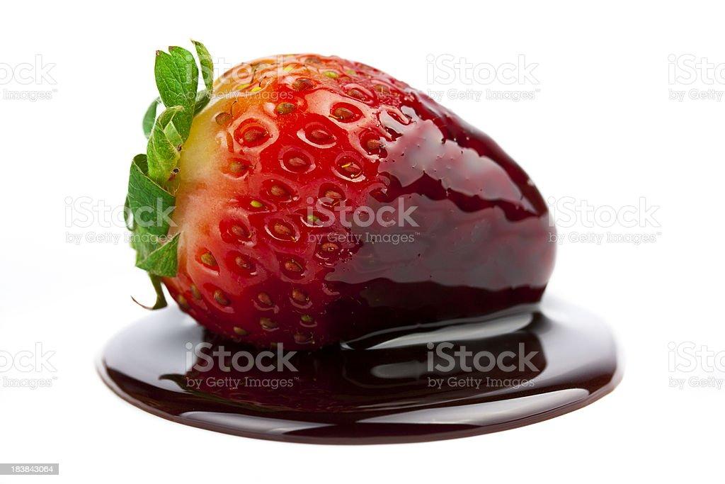 Chocolate strawberry royalty-free stock photo