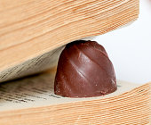 Chocolate sweet . book pages