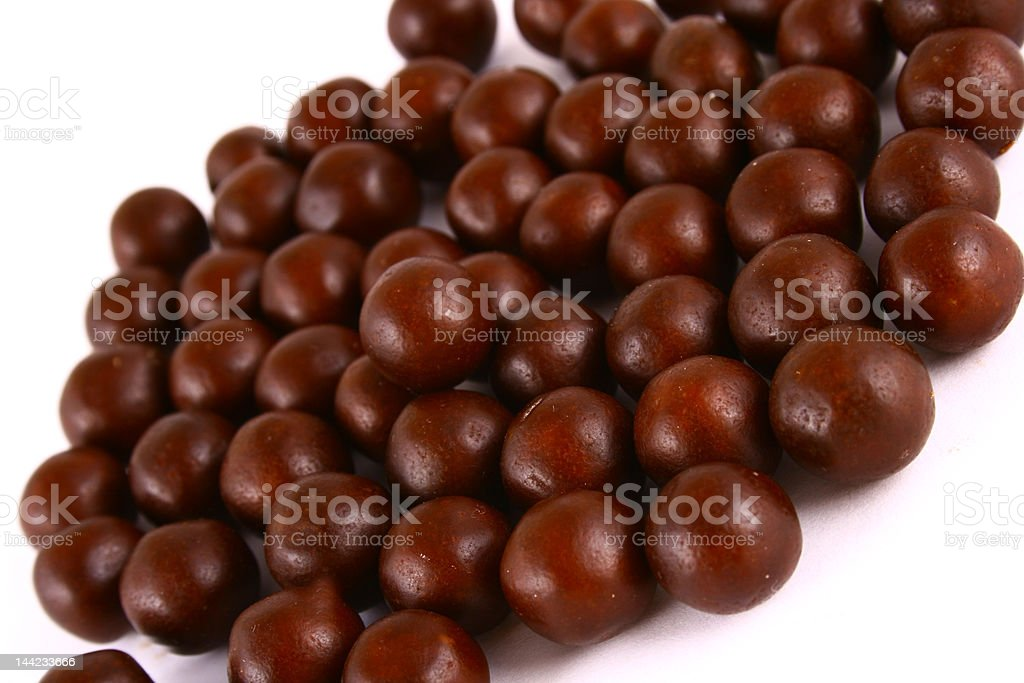 chocolate sweets against white background royalty-free stock photo