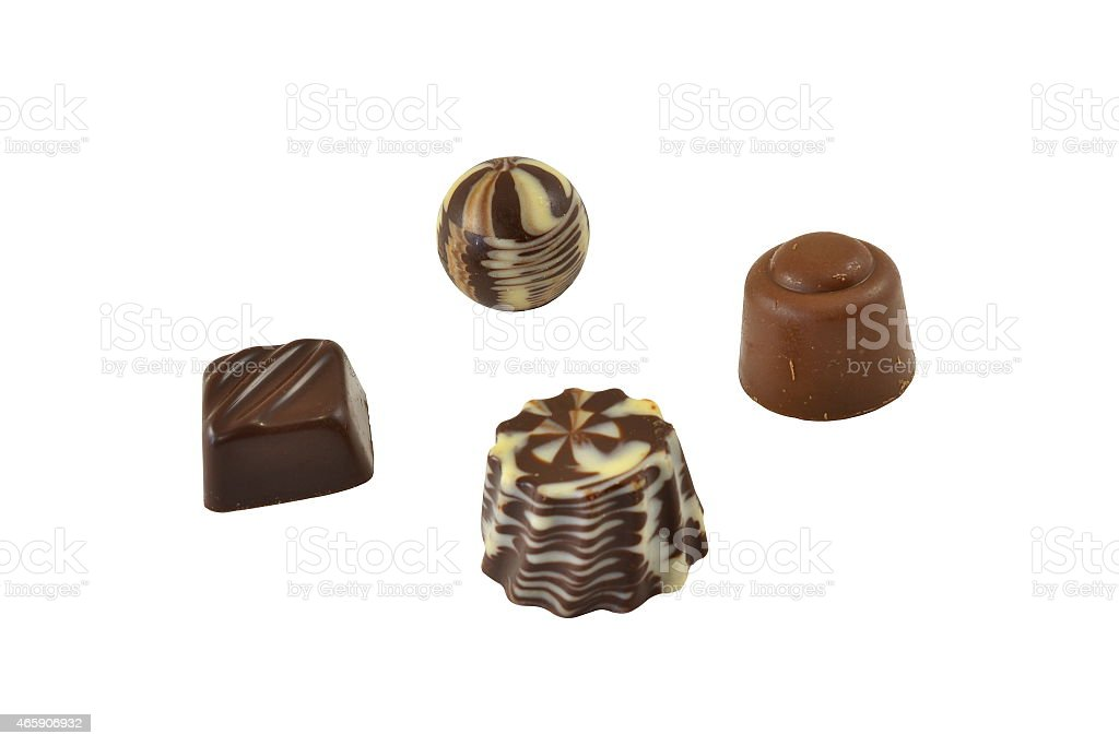 Chocolate sweets stock photo