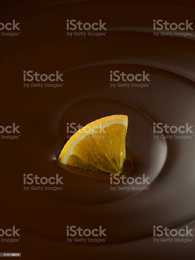 chocolate swirl with orange stock photo