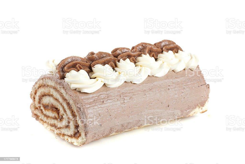 Chocolate Swiss roll royalty-free stock photo