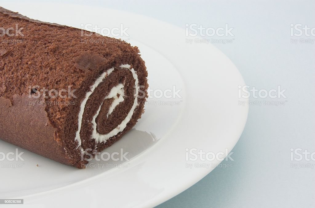 Chocolate Swiss Roll royalty-free stock photo