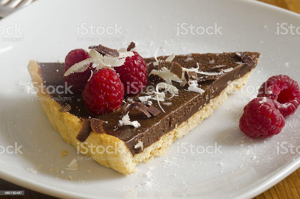 Chocolate tart stock photo