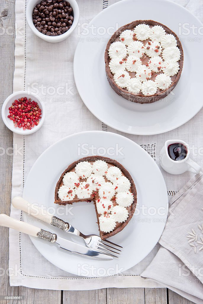 Chocolate Tartlets stock photo