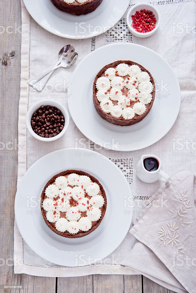 Chocolate Tartlets royalty-free stock photo