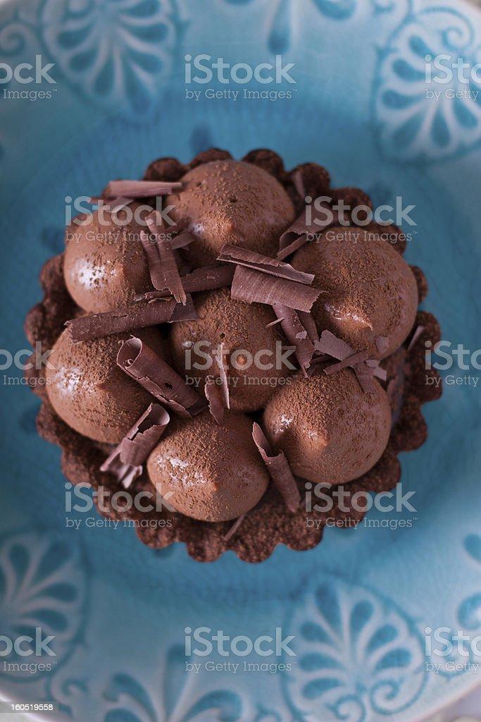 Chocolate tarts royalty-free stock photo