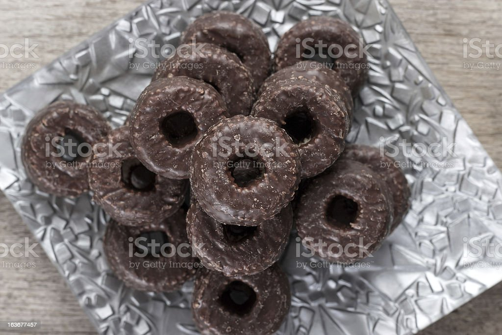 chocolate tea biscuits royalty-free stock photo