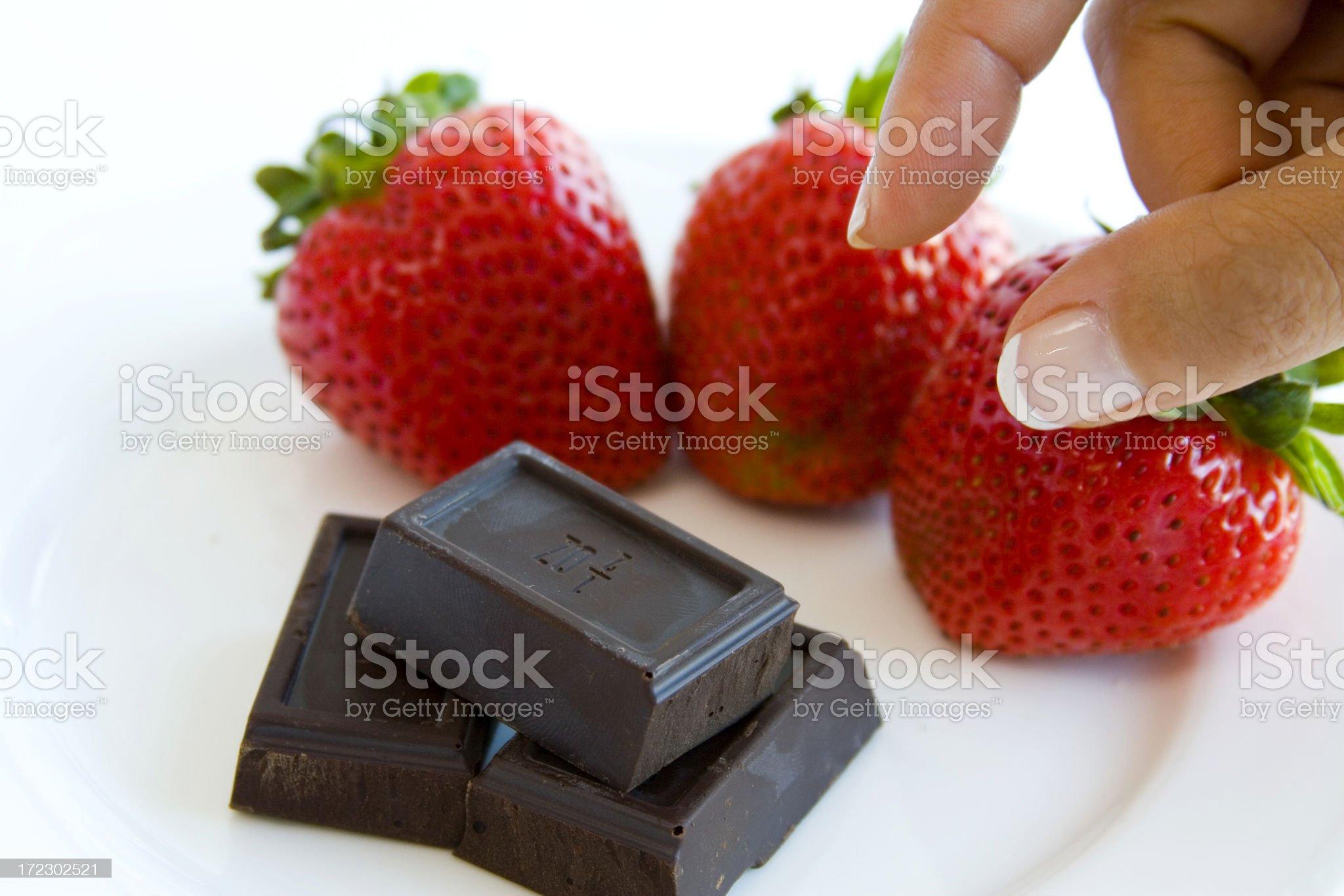 Chocolate temptation royalty-free stock photo
