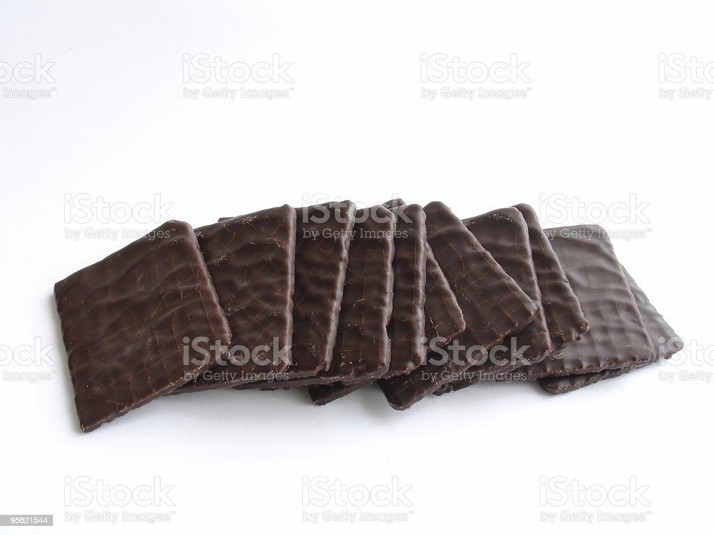 chocolate thins stock photo