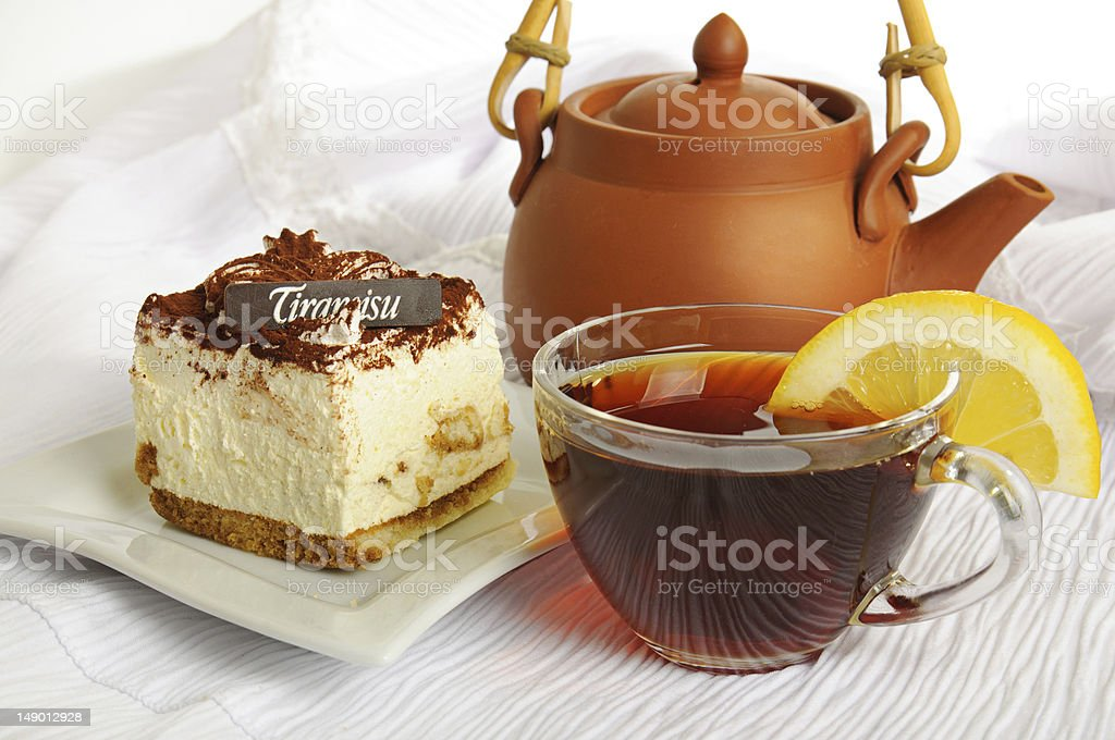 Chocolate tiramisu cake royalty-free stock photo