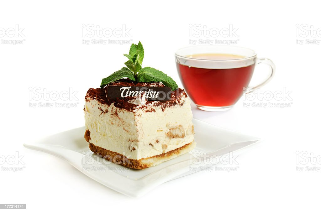 Chocolate tiramisu cake royalty-free stock photo