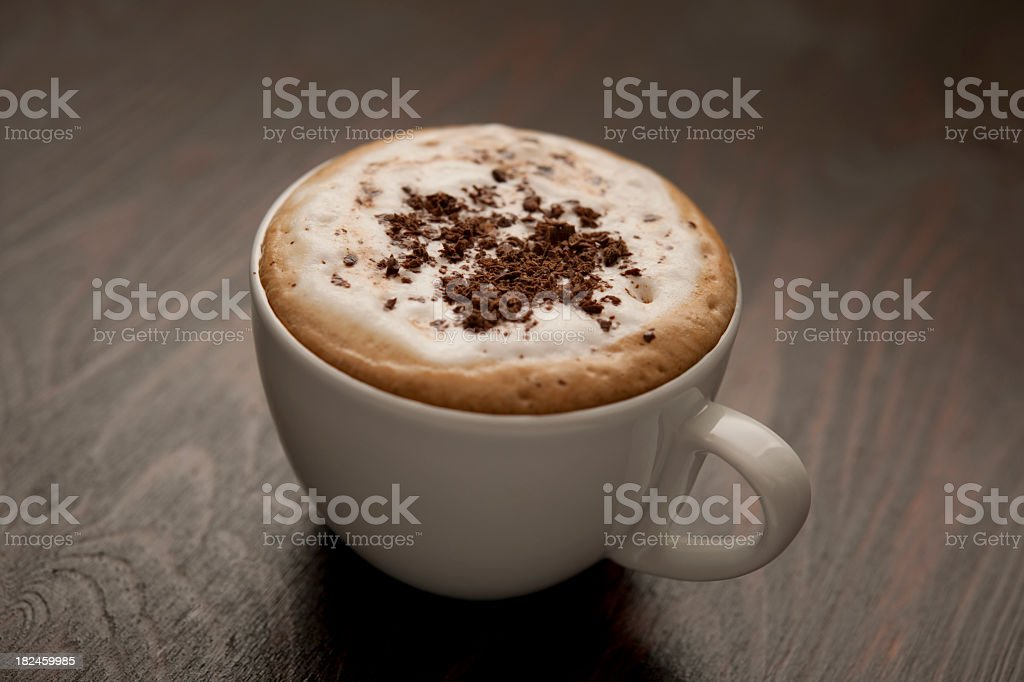 Chocolate topped Cappuccino royalty-free stock photo